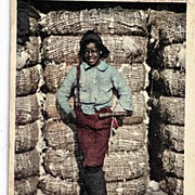 1906 Black Americana Real Life Postcard I Wasn't Born To Labor