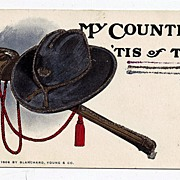 1906 My Country Tis Of Thee Grand Army Of The Republic Postcard