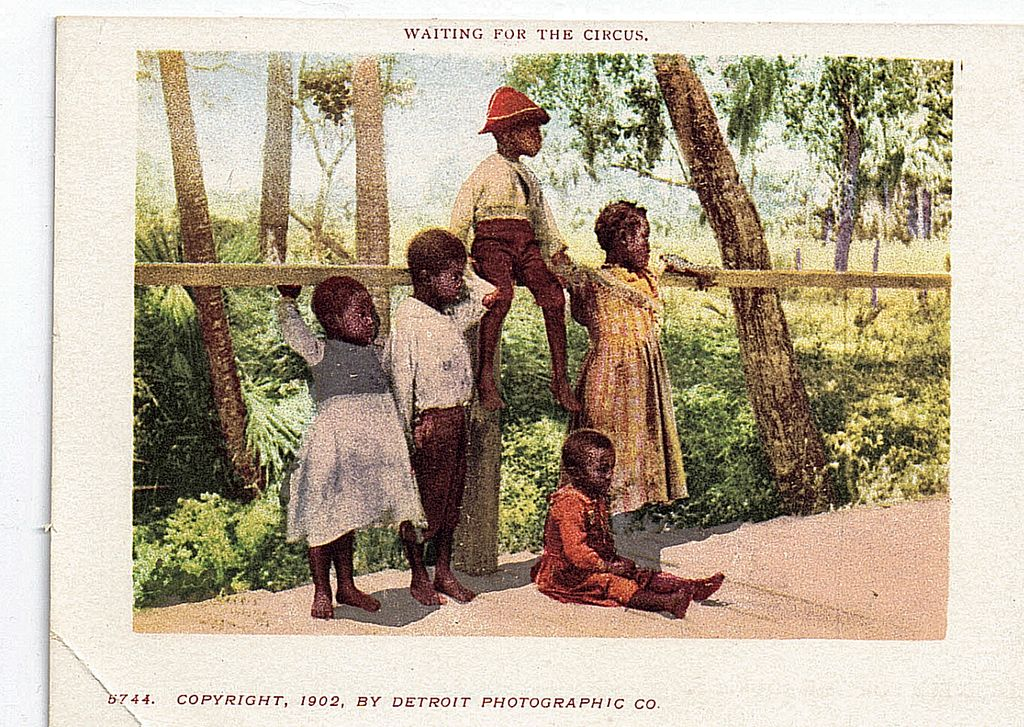 Black Americana Private Mailing Card Waiting For The Circus 1902