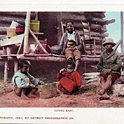 Early 1901 Real Life Black Americana Postcard Living Easy Unused Undivided Back