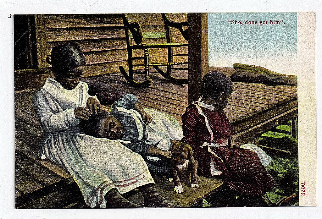"Early 1900s Black Americana Postcard ""Sho, Done Got Him"""