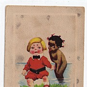 "1913 Black Americana Postcard ""I Don't Like A Dark September Morn"" Unused"
