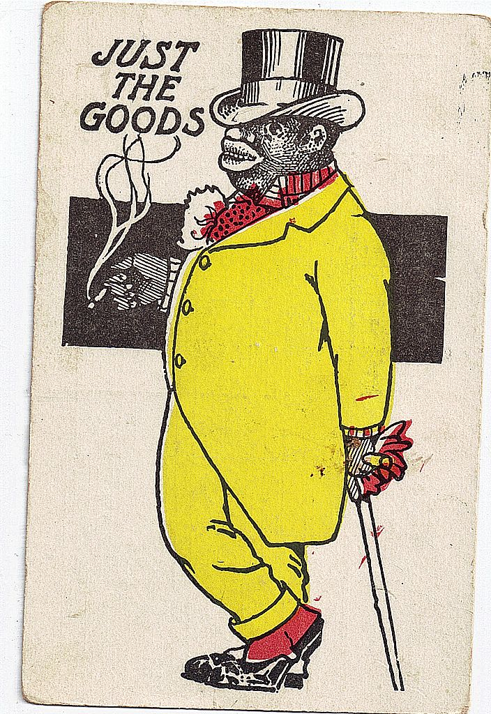 """Early 1900s Black Americana Postcard """"Just The Goods"""""""