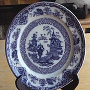Wonderful Mulberry Podmore Walker & Co. PW & Co. The Temple Plate 8.75""