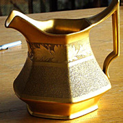 Spectacular Tressemann & Vogt T & V  Limoges J. H.  Stouffer Chicago Gold Encrusted Pitcher