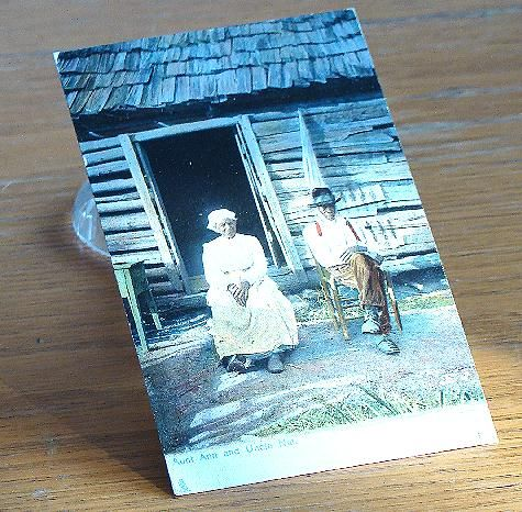 Vintage 1903 Black Americana Postcard Aunt Ann And Uncle Nat