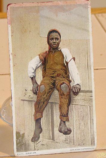 1910 Black Americana Postcard Sunny Jim