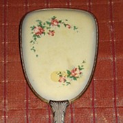 Vintage Celluloid Back Large Vanity Hand Mirror