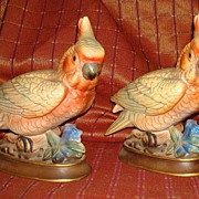 Vintage Pair of Napcoware Colorful Cockatoos