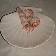 Vintage Hand Painted Fitz & Floyd China Tray With Sea Shells