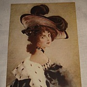 1904 Glamour Lady Signed E. Bottaro Post Card Unused