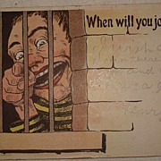 Vintage 1907 Novelty Jail House Post Card