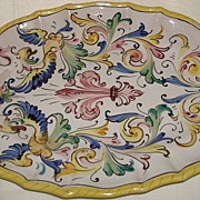 Vintage Deruta Italy Majolica Platter