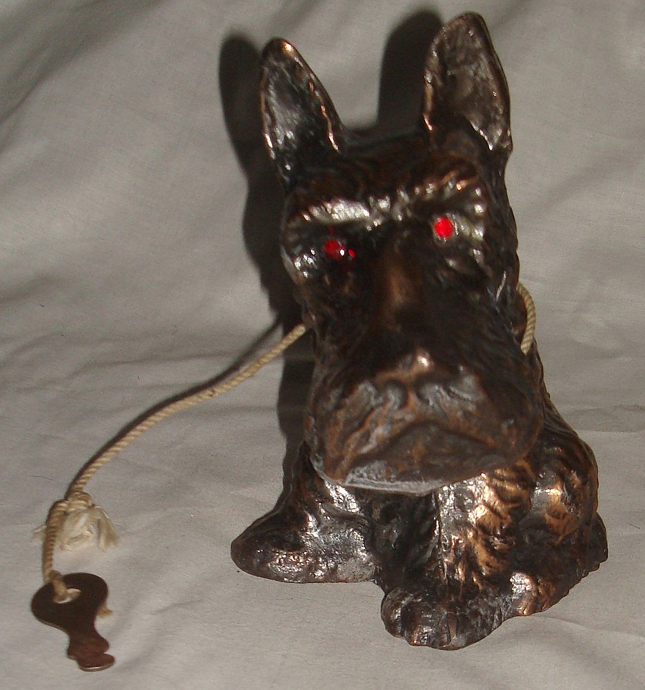 Vintage Scotty Dog Metal Bank
