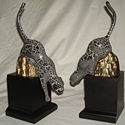 Vintage Leaping Panther Book Ends