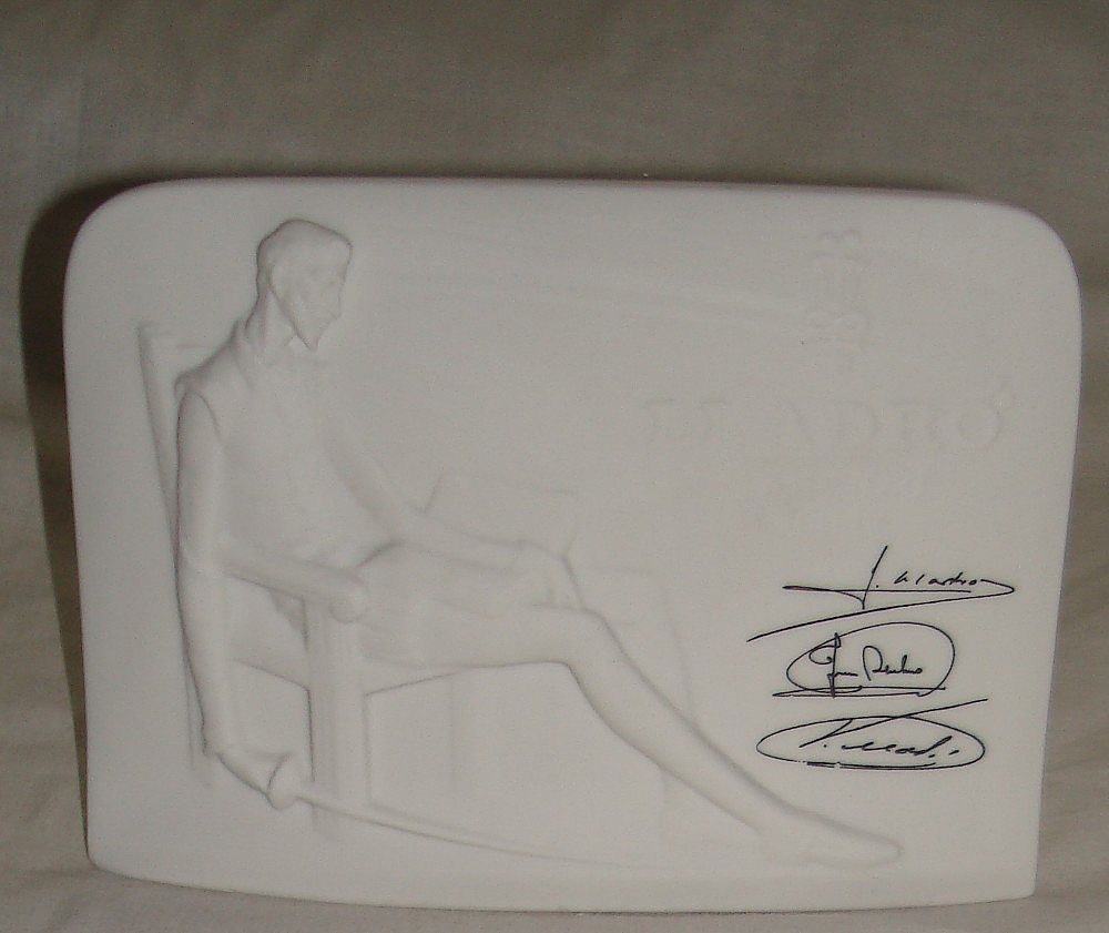 "Lladro  "" Don Quixoti ""  Collectors Society Plaque 1985"