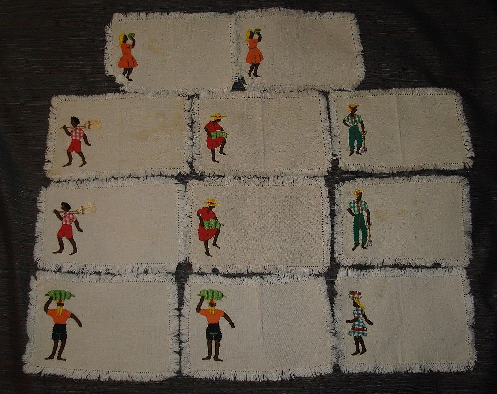 Vintage Black Americana Napkins
