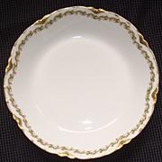 """Haviland Limoges China """" Clover Leaf """" Pattern Soup Bowl"""