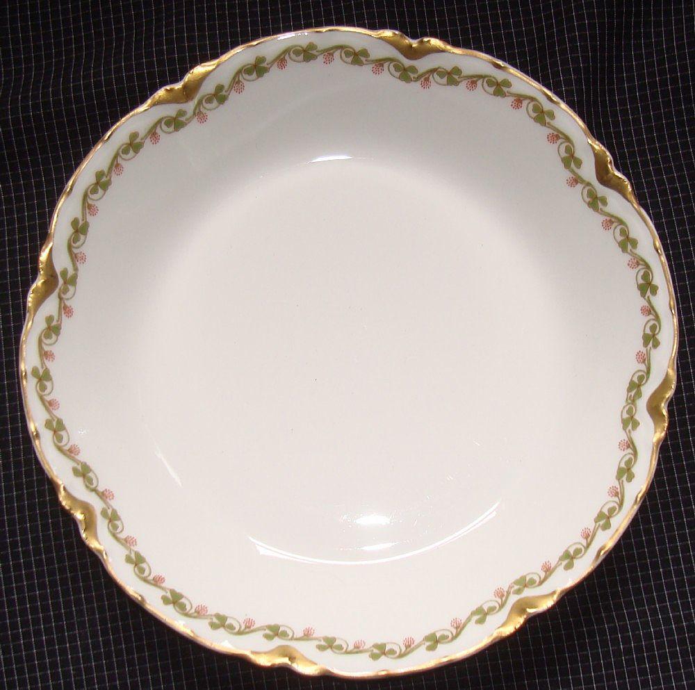 haviland limoges china clover leaf pattern soup bowl sold on ruby lane. Black Bedroom Furniture Sets. Home Design Ideas