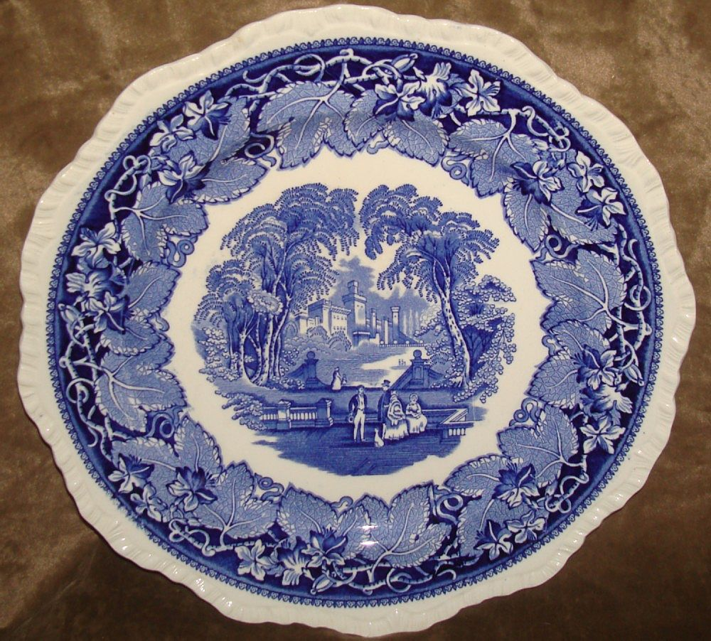 Vintage Masons Ironstone Blue & White Vista Dinner Plate