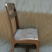 Vintage Wood & Metal Childs School Chair