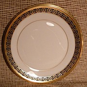 """ Lenox "" Bread & Butter -Tudor Pattern - Cobalt Blue & Gold"