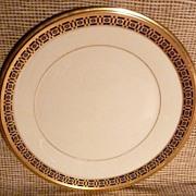 """"""" Lenox """" Salad Plate -Tudor Pattern - Cobalt Blue & Gold"""