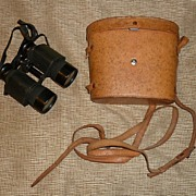 Vintage Binoculars - Original Leather Case