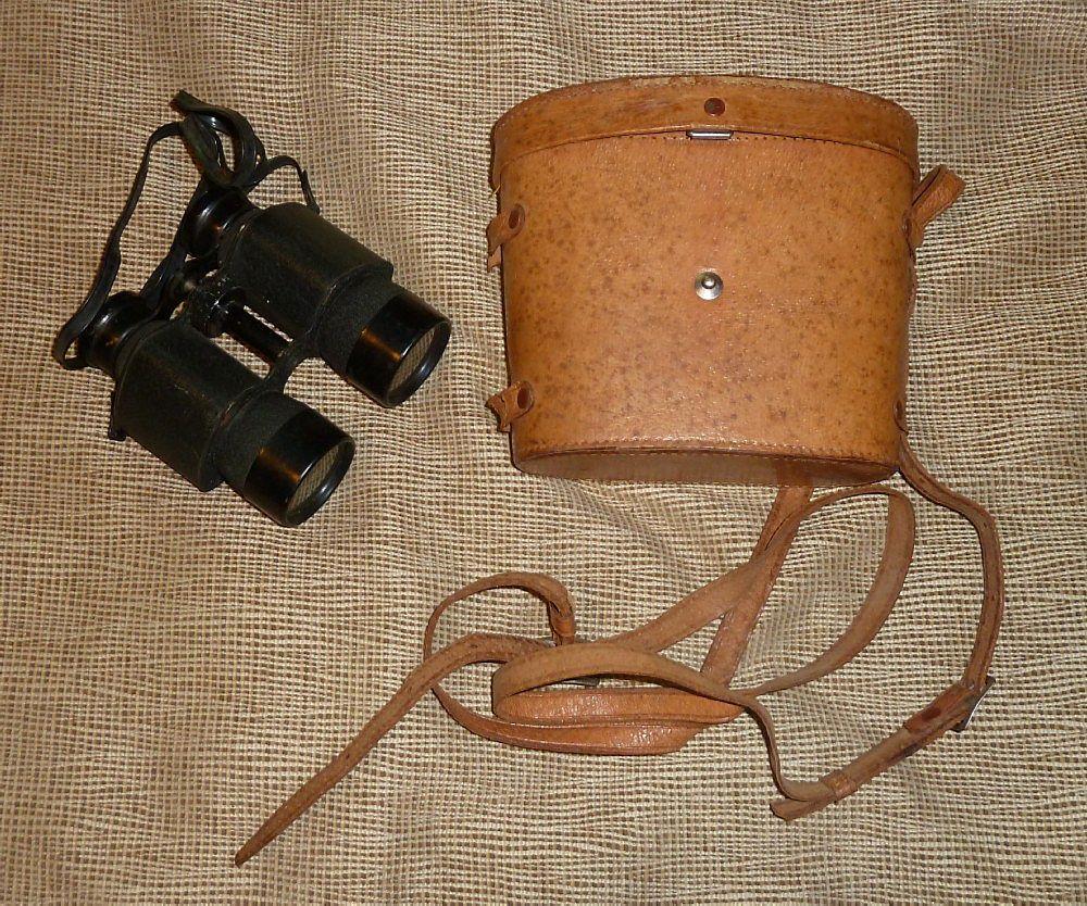 Vintage Binoculars - Original Leather Case