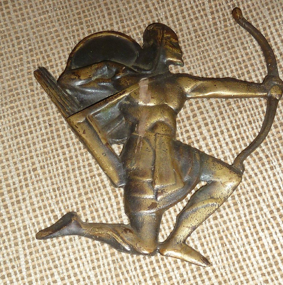 Decorative Brass Archer Plaque