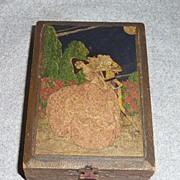Vintage Florentine Harlequin Vanity Box