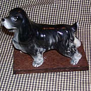 Vintage Porcelain Cocker Spaniel Dog Figurine