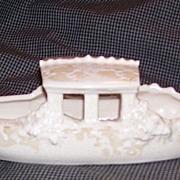 Rare McCoy Pottery Gondola Candy Boat
