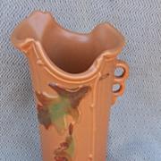 Vintage Weller Malvern Acorn & Leaf Pottery Vase