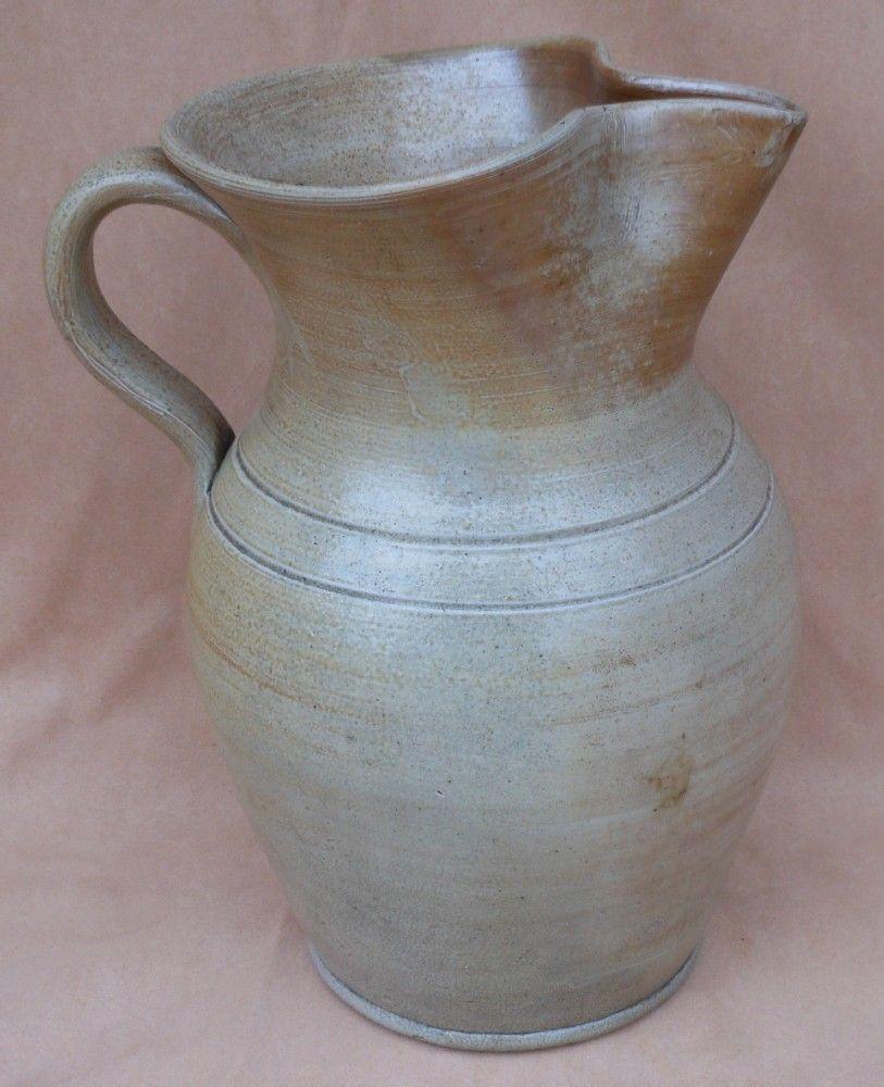 Antique North Carolina Pottery Large Milk Pitcher