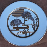 "Fitz & Floyd  "" Golden Heron "" Dinner Plate"