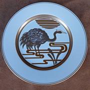 "Fitz & Floyd  "" Golden Heron "" Salad Plate"