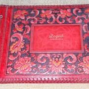 Vintage Hand Tooled Embossed Leather Photo Album - Yugoslavia