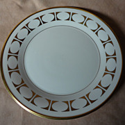 "Lenox China "" Tempo "" Pattern Salad Plate"