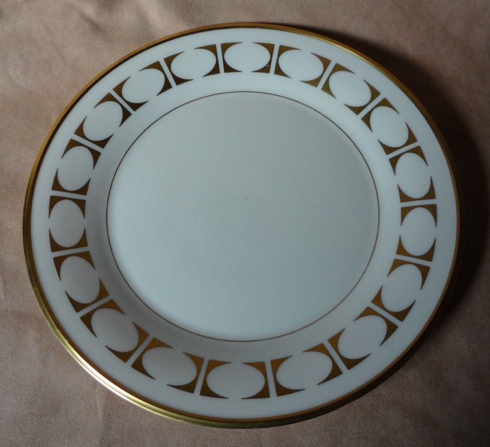 "Lenox China "" Tempo "" Pattern Salad Plate"