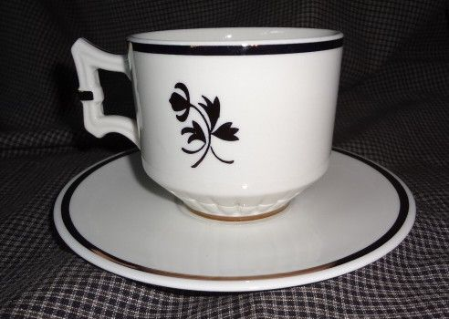 Red Cliff Copper Tea Leaf Cup & Saucer