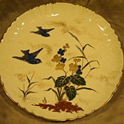 Very Rare  - Minton blue bird hand painted Cabinet Plate