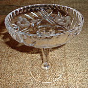 Brilliant Cut Crystal Compote