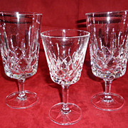 Gorham King Edward Pattern Crystal Stem Ware