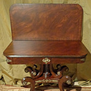 Lloyd Buxton - Regency - Mahogany Flip Top Game Table