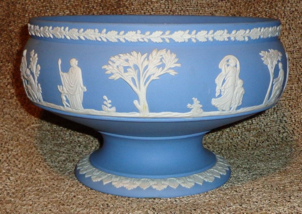 Wedgwood Blue Large Footed Bowl