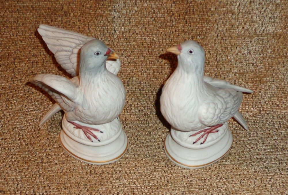 Lefton Dove Figurines Pair