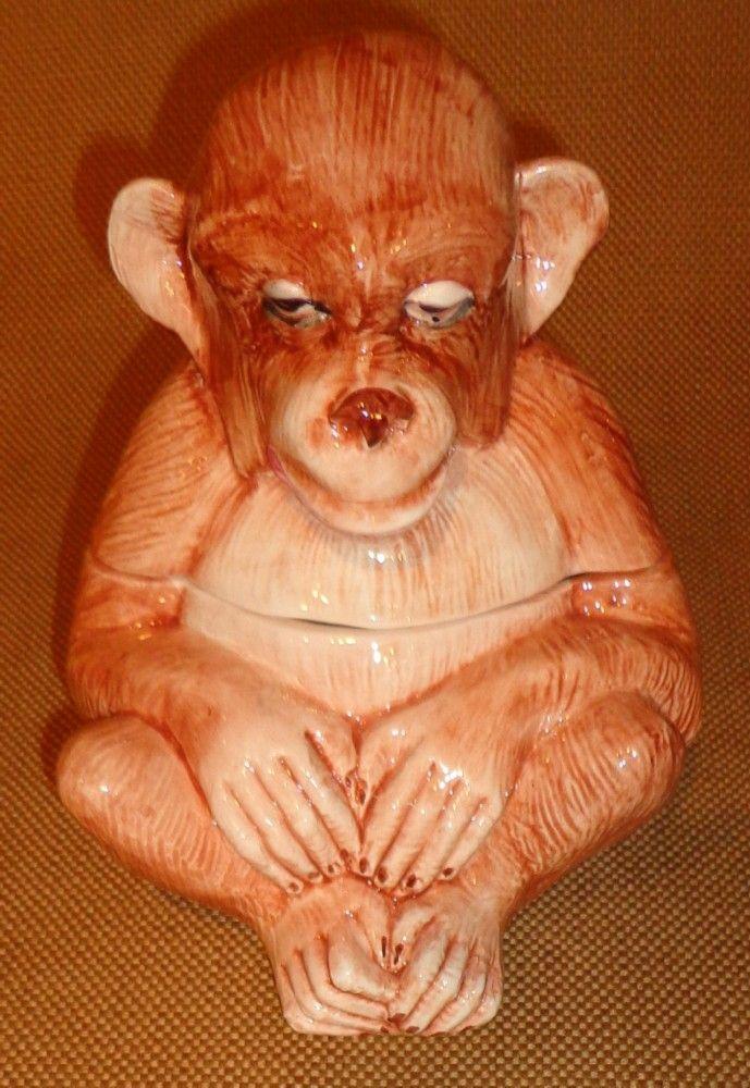 Vietri Figural Monkey Box - Italian