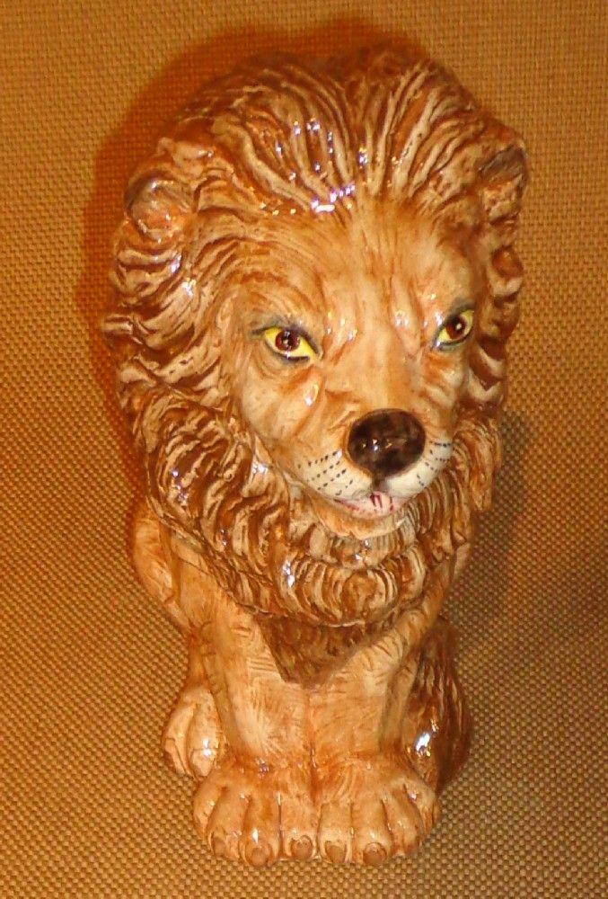 Vietri - Figural Lion Box - Italian