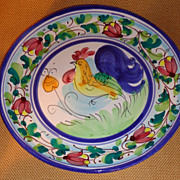 "Vietri - Rooster Plate - Hillsborough NC - "" Galletto "" Pattern"